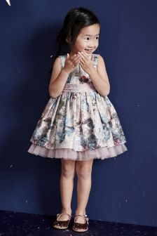 Floral Jacquard Prom Dress (3mths-6yrs)