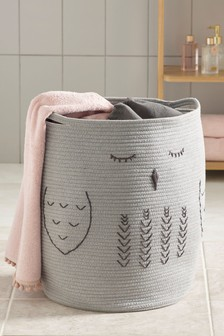 Owl Woven Laundry Bag