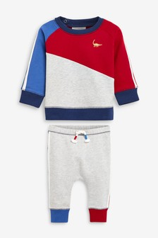 Colour Block Co-ord Jumper And Jogger Set (0mths-2yrs)