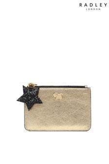 Золотистый маленький кошелек для монет на молнии Radley London Vine Hill