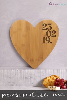 Personalised Special Date Cheeseboard by Loveabode