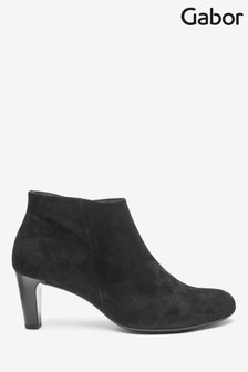 Gabor Black Fatale Womens Classic Suede Ankle Boots