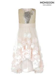 Monsoon Pink Thea Sparkle Dress