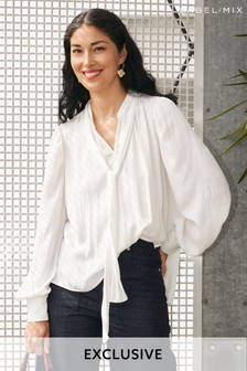 Mix/Awake Tunic Tie Blouse