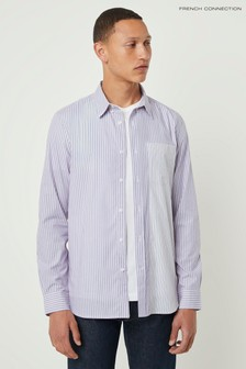French Connection Blue Formal Stripe Shirt