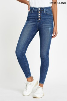 River Island Mid Blue Hailey Jeans