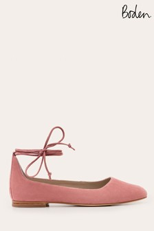 Boden Pink Effie Ballet Flat Shoes