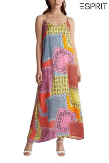 Esprit Pink Printed Viscose Long Dress