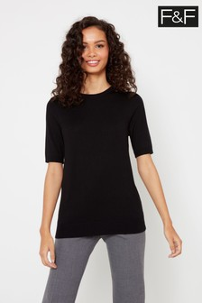 F&F Black Crew Neck T-Shirt