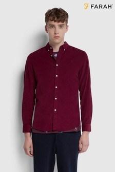 Farah True Fontella Long Sleeved Cord Shirt