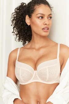 DD+ Georgie Non Padded Wired Lace Full Cup Bra