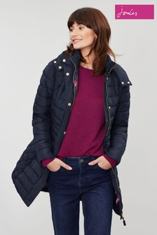 Joules Blue Thirlmere Long Padded Coat