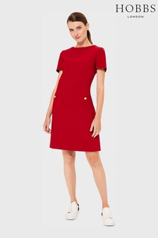 Hobbs Red Petra Dress