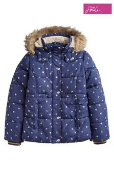Joules Stella Faux Fur Lined Padded Coat