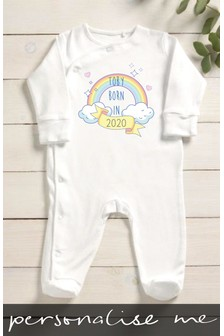 Personalised Born In 2020 Sleepsuit