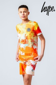 Hype. Orange Spray T-Shirt