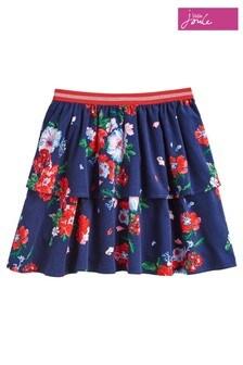 Joules Blue Ruffles Layered Skirt