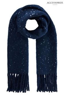 Accessorize Blue Speckled Super Fluffy Scarf