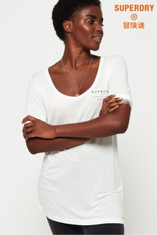 Superdry Eyelash Lace Graphic T-Shirt