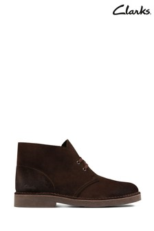 Clarks Dark Brown Suede Desert Boot 2 Boots