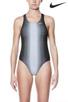 Nike Black Fade Fastback Swimsuit