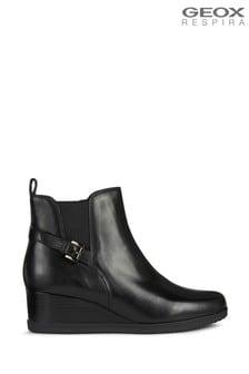 Geox Womens Anylla Black Boots