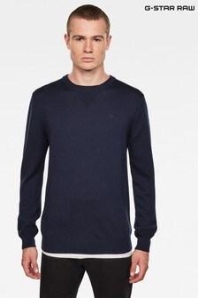 G-Star Blue Premium Basic Knit