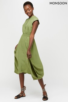 Monsoon Green Danika Midi Dress
