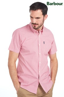 Barbour® Red Gingham Short Sleeve Tailored Shirt