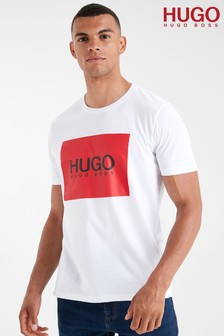 HUGO White Dolive Logo T-Shirt