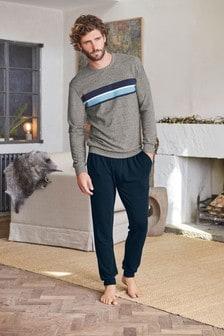 Chest Stripe Stretch Comfort Pyjama Set