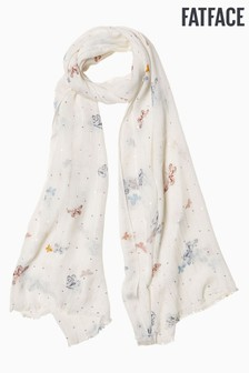 FatFace Natural Butterfly Sequin Scarf