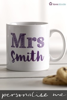 Personalised Mr and Mrs Mug Set by Loveabode