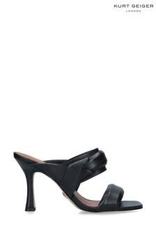 Kurt Geiger London Black Brandy Heeled Sandals