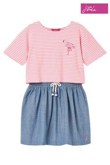 Joules Pink Rose Mock Layer Dress