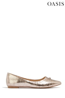 Oasis Silver Knot Detail Flats