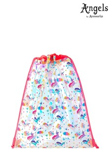 Angels by Accessorize Metallic Holographic Drawstring Bag