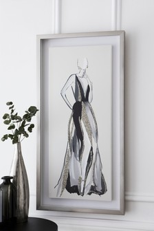 Glamorous Lady Embellished Canvas