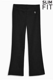 Трикотажные расклешенные брюки (3-16 лет)
