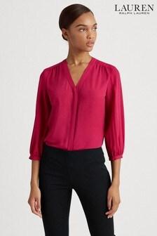 Lauren Ralph Lauren® Bright Fuchsia Fajola Blouse