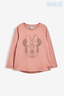 Wheat Minnie T-Shirt mit Strass, pink