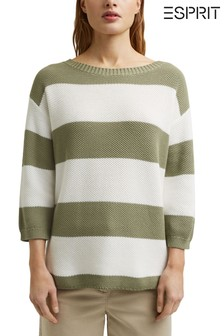 Esprit Green Stripe Jumper