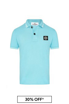 Boys Blue Cotton Poloshirt
