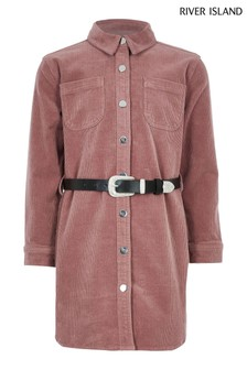 River Island Pink Western Cord Dress