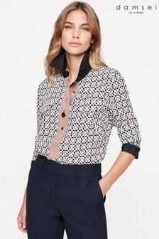 Damsel In A Dress Neutral Eden Print Shirt