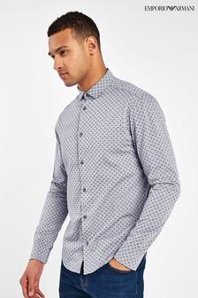 Emporio Armani Grey Logo Shirt