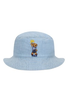Boys Blue Reversible Chambray Hat