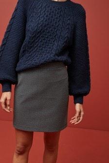 Мини-юбка из плотного трикотажа