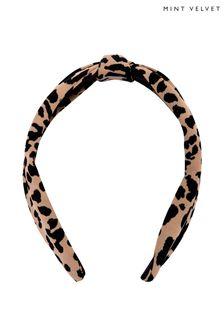 Mint Velvet Animal Leopard Print Headband