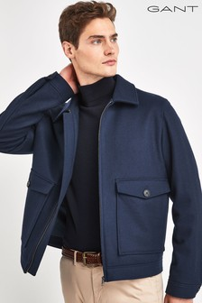 GANT Blue Wool Windcheater